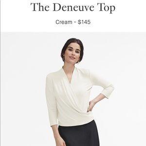 MM Lafleur Deneuve Top, Cream XS, EUC